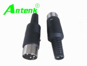 DIN Connector With 4 Pins Male Type pictures & photos