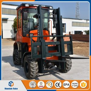 4X4 New 3 Ton All Rough Terrain Forklift with Price List pictures & photos