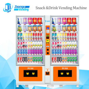 Popular Creative White Steel Snack/Drink/ Beverage Vending Machine pictures & photos