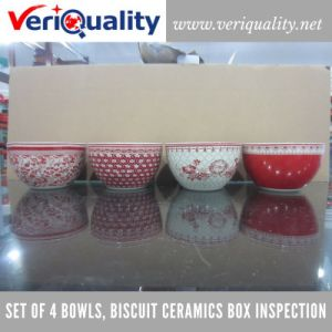 Set of 4 Bowls, Biscuit Ceramics Box Quality Control Inspection Service at Chaozhou, Guangdong pictures & photos