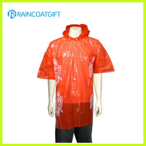 Cheap Adult Clear Disposable PE Rain Poncho Rpe-147b pictures & photos