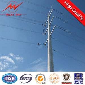 8m 5kn Africa Galvanized Electric Power Pole Manufacture pictures & photos