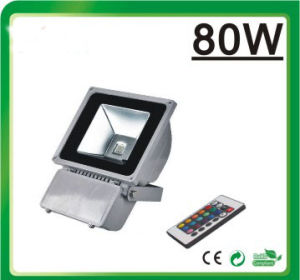 LED Flood Light RGB LED Floodlight (Remote Controller 80W) pictures & photos