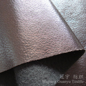 Bronzing Suede Leather Compound Fabric for Sofa pictures & photos