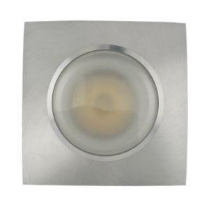 Lathe Aluminum GU10 MR16 Square Fixed Recessed LED Bathroom Ceiling Light (LT2907) pictures & photos