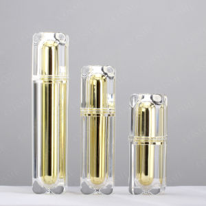 15ml 30ml 50ml 80ml High Quality Plastic Acrylic Square Luxury Cosmetic Packaging Bottle pictures & photos