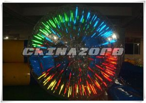 Customized Amazing Lighting Inflatable Zorb Roller at Factory Price pictures & photos