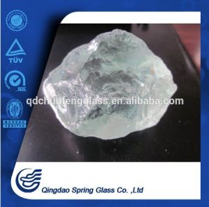 Normal White Clear Glass Rocks for Landscape & Square & Garden & River Decoration pictures & photos