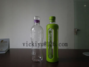 500ml Heat-Resisting Glass Water Bottle Coffee Glass Bottle with Lid pictures & photos