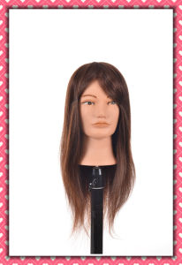 Cheap Price Human Hair Mannequin Head 18inches pictures & photos