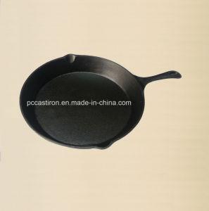 Preseasoned Cast Iron Camping BBQ Skillet Dia 30cm pictures & photos