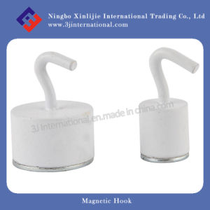 High Quality NdFeB Magnetic Hook/ White Coated Hooks