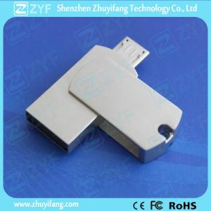 Laser Engraved Logo Metal Twist OTG USB 16GB (ZYF1609) pictures & photos