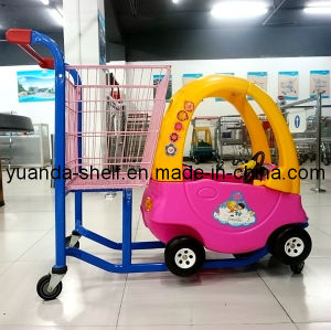 Kids Supermarket Shopping Trolley with Toy Car pictures & photos