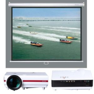 Manual Screen Cheap Price of Projector Screen with Matte White Fabric