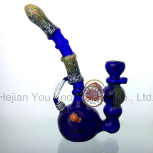 Glass Smoking Water Bent Pipe Colorful Hookah pictures & photos