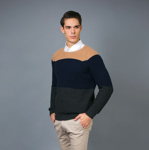 Men′s Fashion Cashmere Blend Sweater 17brpv078 pictures & photos