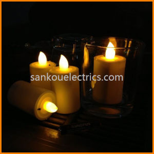 Dry Battery Operated LED Tea Candle, Remote Control Flicker Flameless Candle