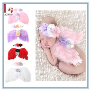 Baby Angel Wings Headband Feather Photo Props pictures & photos