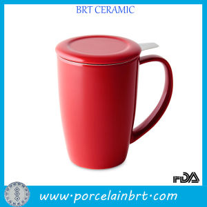 Wholesale Ceramic Tea Cup with Stainless Steel Infuser pictures & photos
