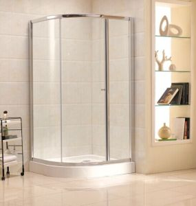 China Ce/Austrlain Approved Tempered Glass Simple Round Shower Enclosure (B17) pictures & photos