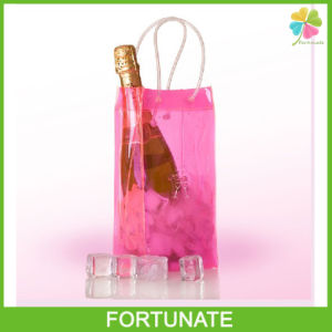 Clear Plastic Ice Bag for Wine PVC Wine Tote Bag pictures & photos