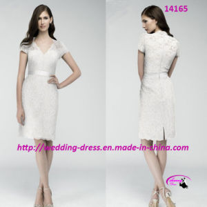 Nice Charming Pencil Evening Bride Dress for Cocktail pictures & photos