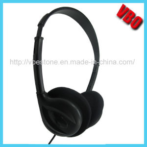 Promotional Airline Headset Disposable Headsets with Comfortable Foam Sponge pictures & photos