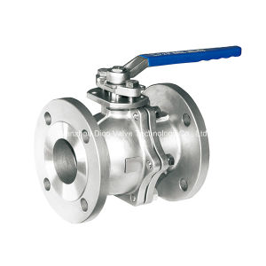 ANSI 2PC Flange Ball Valve with Low Plate Form pictures & photos