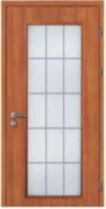 15 Lites Glass Wooden French Door