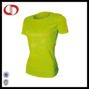 Polyster/ Spandex Compression Fitness Shirt for Women pictures & photos