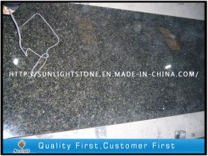 Verde Uba Tuba Green Granite Slab for Kitchen Countertops/Vanity Tops pictures & photos