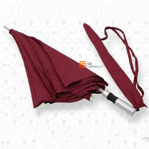 White Fiberglass Ribs and Aluminum Shaft Red Golf Umbrella (YS-G1005A) pictures & photos