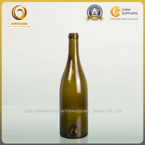Hot Sale Cheap Cork Top Grape Wine Bottle for Burgundy (071) pictures & photos