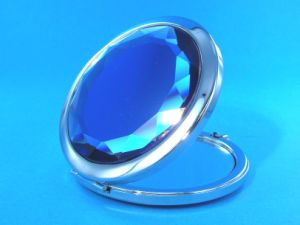 65mm Special Blue Pocket Cosmetic Mirror for Promotion Gifts pictures & photos