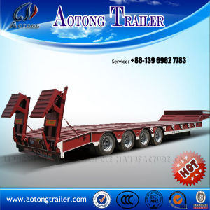 Widely Used Lowboy Trailer for Sale Fixed Gooseneck Lowbed Trailers pictures & photos