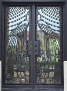 Cheap Price Security Wrought Iron Door pictures & photos