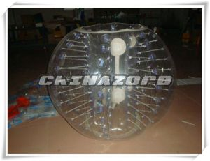 Hot Sale Outdoor/Indoor Sport Game Body Zorbing Ball with White Straps