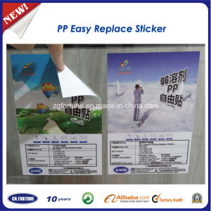 PP Easy Replace Sticker / Removable PP Sticker / Removable Pet Sticker pictures & photos