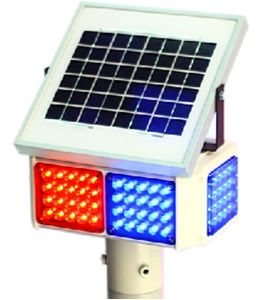 Solar Energy Traffic Signal Flashlight with Double- Side (TR002)