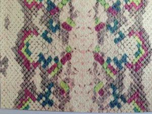 Snake Fabric with PU Film for Women′s Handbag