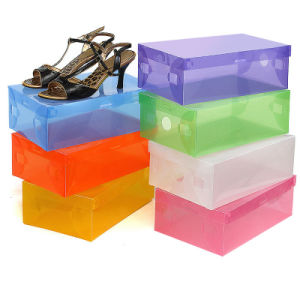 Clear Shoe Box/ Clear Plastic Shoe Boxes with Handle (mx-095) pictures & photos