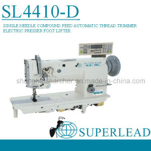 Superlead Automatic Thread Trimmer Single Needle Compound Feed Lockstitch Industrial Sewing Machinery (SL4410-D)