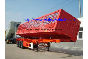 40t-100t Side Dump Truck Tipper Semi Trailer for Cargo Transportation pictures & photos
