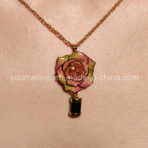Jewelry-24k Gold Rose Necklace