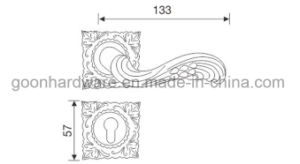 Zinc Alloy Door Handle on Rose - 561 pictures & photos