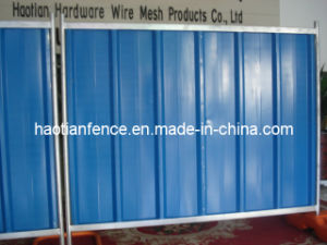 Colorful Temporary Steel Hoarding Used for Construction Sites pictures & photos