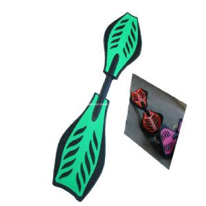 ABS Wave Skate Board (ET-SK2701) , Plastic Skateboard with Leaf Design pictures & photos