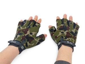 5.11 Camo Half Finger Tactical Fingerless Glove pictures & photos