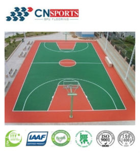 6mm Silicon PU Outdoor Sports Courts Flooring pictures & photos